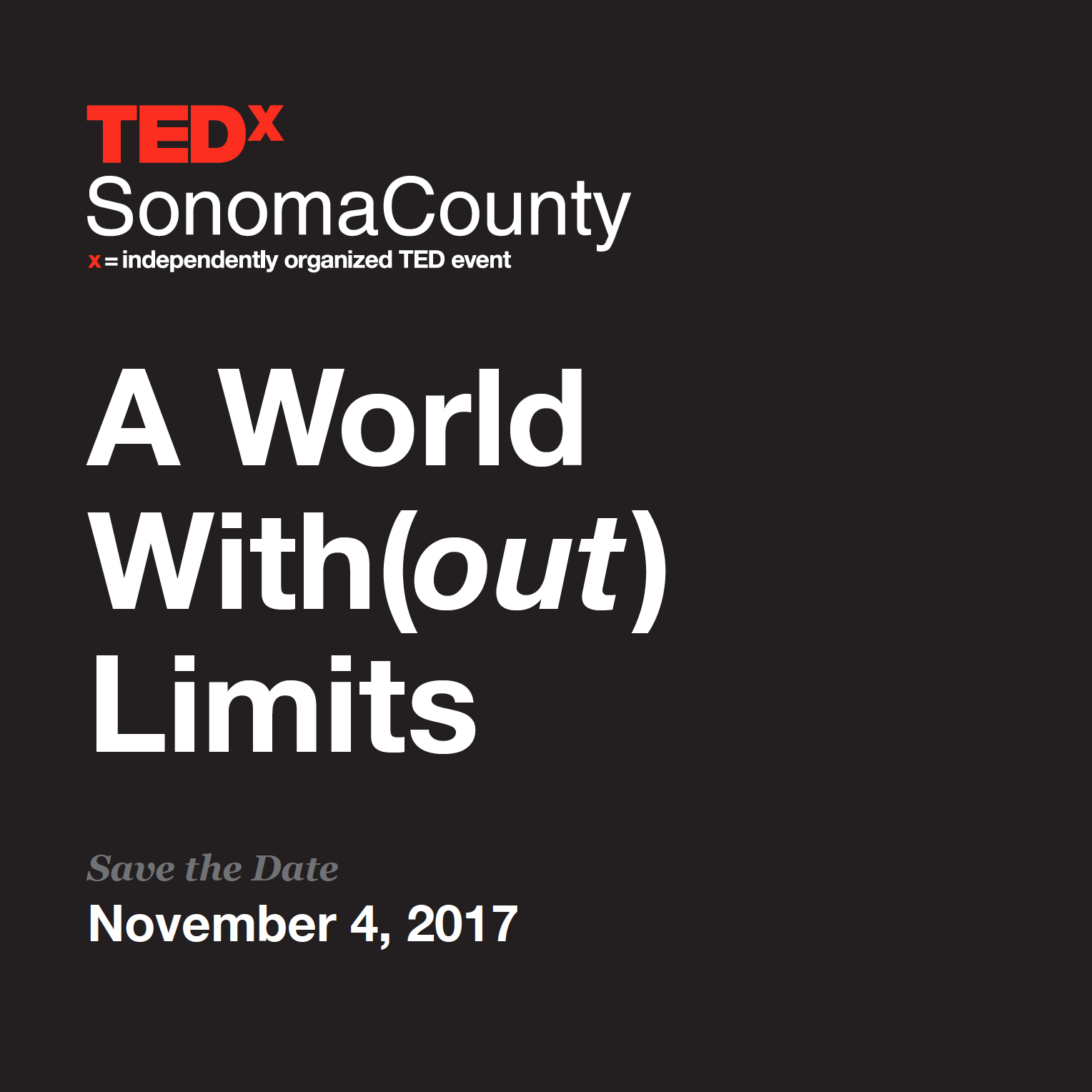 A World With(out) Limits Save the Date